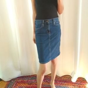 NWT J Crew Denim pencil skirt